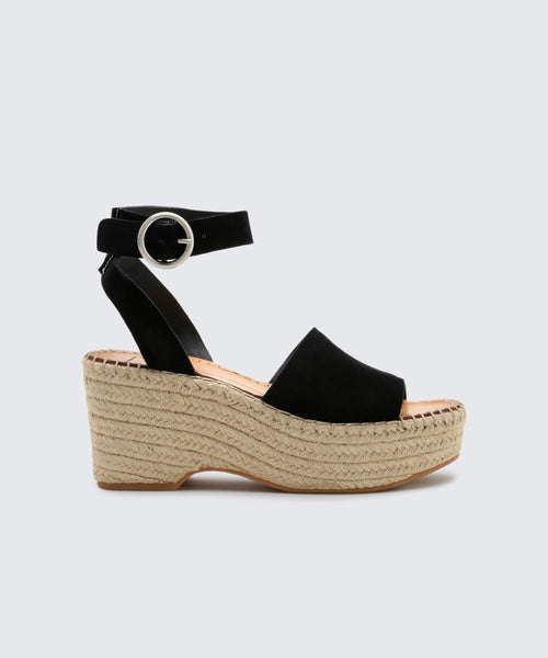 LESLY WEDGES IN ONYX -   Dolce Vita