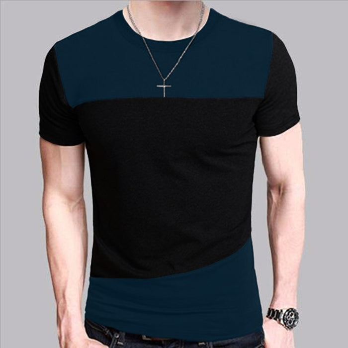 Mens T-Shirt Slim Fit Crew Neck T-shirt Men Short Sleeve Shirt Casual T-shirt Tee Tops Short Shirt