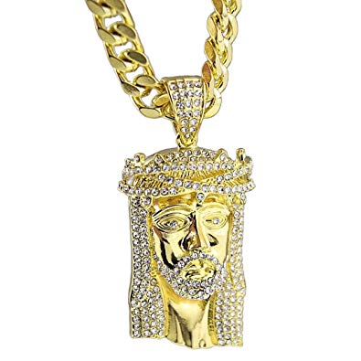 Yellow Gold Jesus Pendant