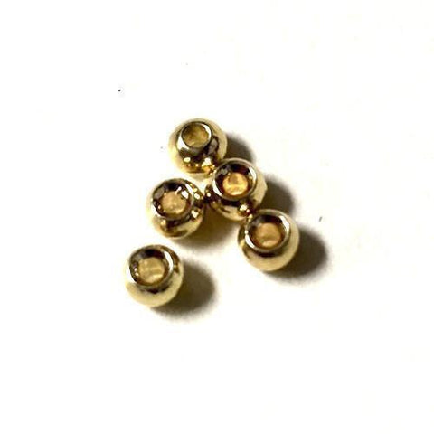 Tungsten Beads Fly Tying 50 Pack Gold