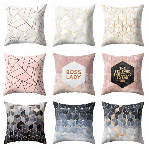Nordic Geometric Cushion Cover !! - A Wine Lovers