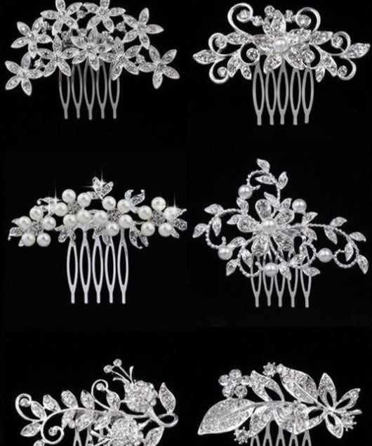 Bridal Hair Combs Wedding Hair Accessories a wine lovers