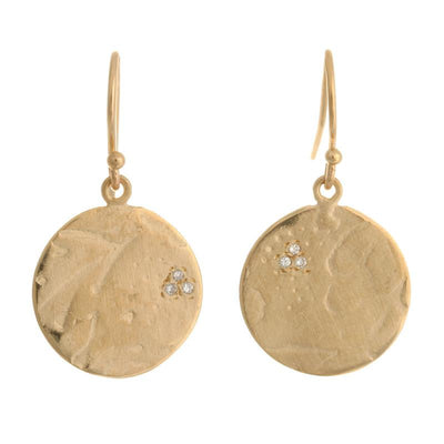 Quinn's Tulips - Handmade Gold Earrings