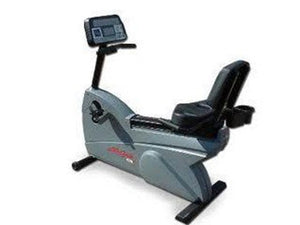 Factory photo of a Used Life Fitness LifeCycle 9100R Recumbent Bike Belt Drive