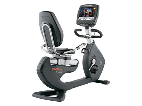 Factory photo of a Refurbished Life Fitness Lifecycle 95R Engage Recumbent Bike