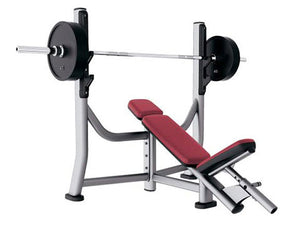 Factory photo of a Used Life Fitness Signature Olympic Incline Bench