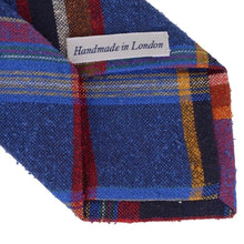 Load image into Gallery viewer, Drake's London Slubby Silk Tie - Plaid