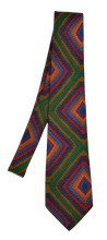Load image into Gallery viewer, Fiorio Wool Tie Aztec Print - Green