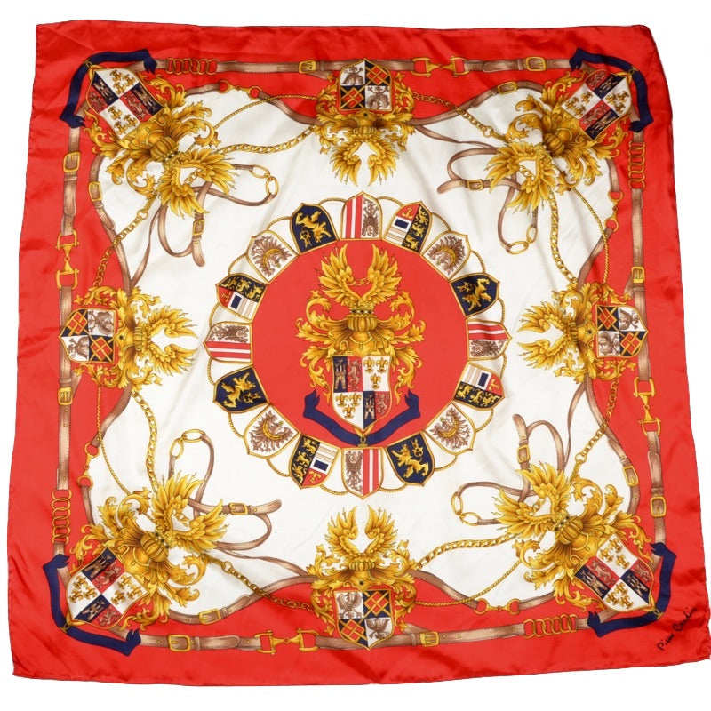 Pierre Cardin Regal Print Silk Scarf
