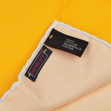 Load image into Gallery viewer, Hemley Handrolled Cotton Pocket Square - Yellow