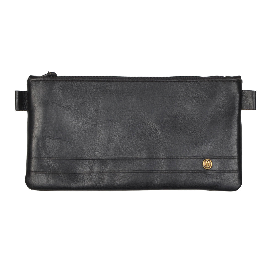 Goldpfeil Leather Pouch - Black