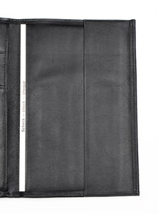 Becker Leather Travel/Breast Wallet - Black