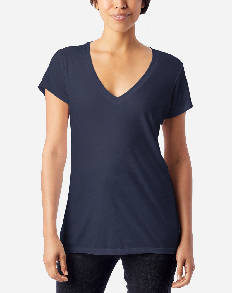 Slinky V-Neck in Navy