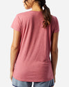 Slinky V-Neck in Washed Rose