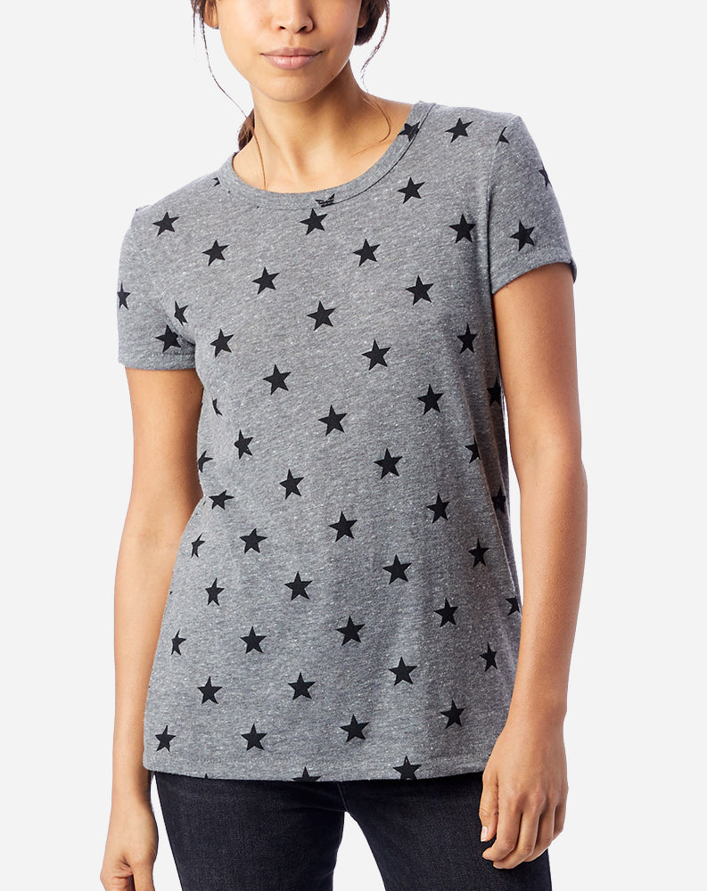 Printed Ideal T-Shirt in Eco Grey Stars