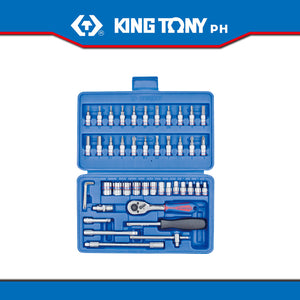 "King Tony #ST2346MR, 46 pc. 1/4"" Drive Socket Set"