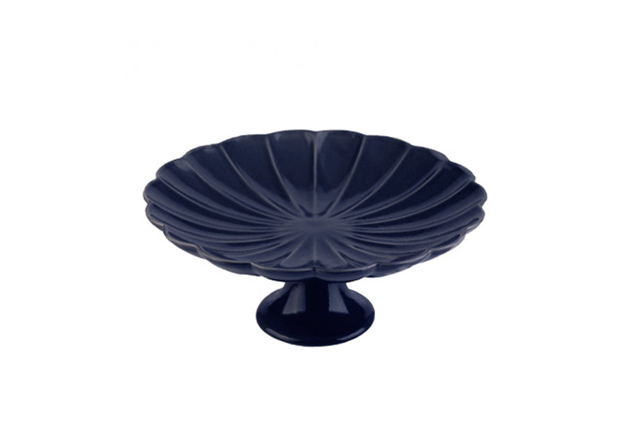 Daisy Fruit Platter-Navy Blue