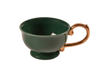 Tea Cup Handle Gold-Green