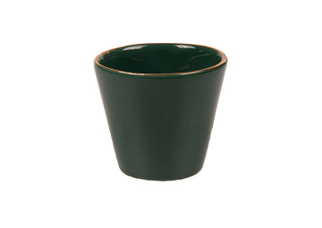 Double Espresso Cup Round Gold-Green