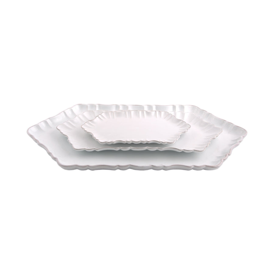 Cloud Appetizer Plate Large-White