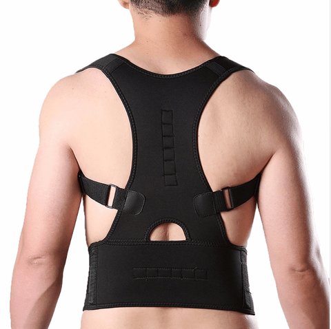 DurablePro™ Magnetic Therapy Posture Corrector Fully Adjustable Back Brace (Unisex) - EcoBraces®