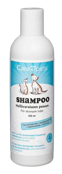 Care4pets hellävarainen shampoo 250 ml