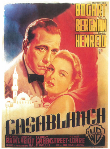 An original movie poster from the Dwight Cleveland collection for the film Casablanca by Luigi Martinati