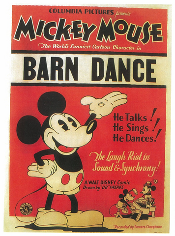 An original movie poster from the Dwight Cleveland collection for the Disney film The Barn Dance