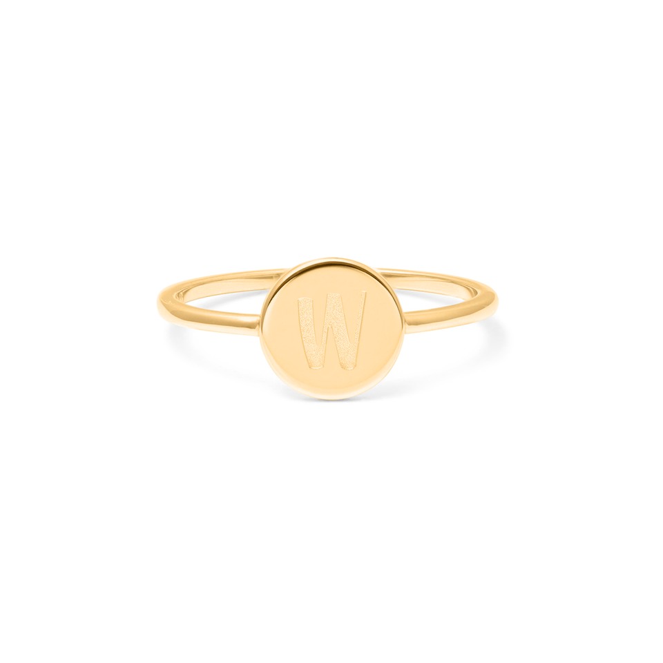 Petite Letter W Ring