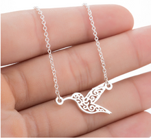 Load image into Gallery viewer, Origami Hummingbird Necklace