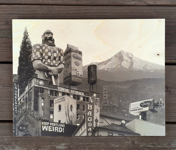 East Portland Skyline - Wood Print