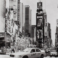 New York City Art -- Walking Through Times Square -- Original Art Print -- Photographic Etching -- Photography -- NYC