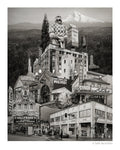 Portland Archival Pigment Print -- Eastside Portland Landmarks -- Photomontage -- Limited Edition Fine Art Print -- Photo Collage
