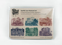 ON SALE!! -- Seattle Postcards -- Seattle Icons -- Set of 6
