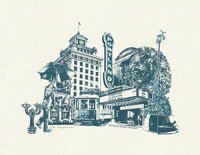 Portland Art Print -- Catching the Streetcar Downtown -- 8.5x11 and 11x14