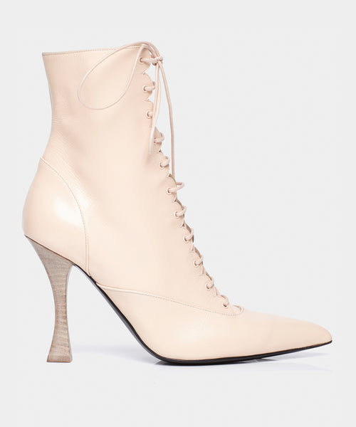 LACE UP BOOT LIGHT BEIGE