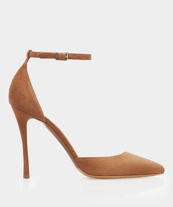 Alhambra Sand Kidsuede Point Toe Pump