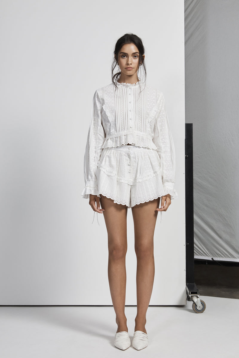 CELIÉ PLEATED SHIRT
