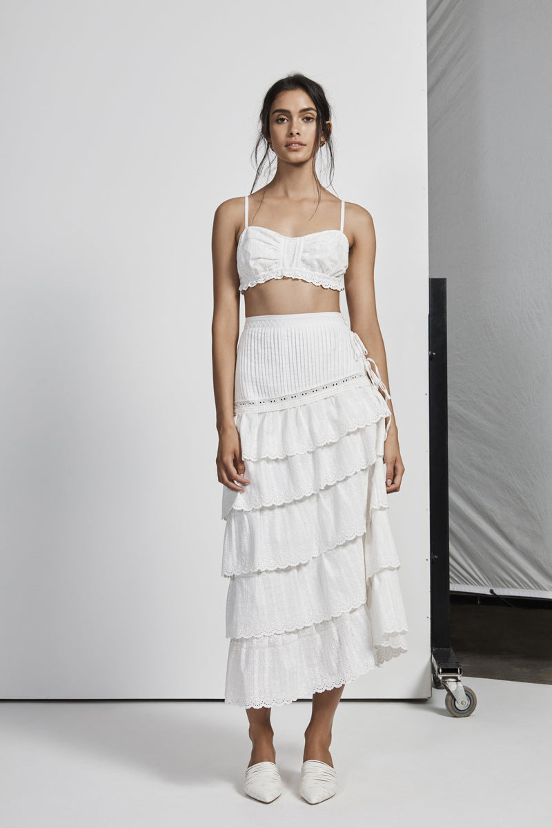 CELIE PLEATED BRALETTE