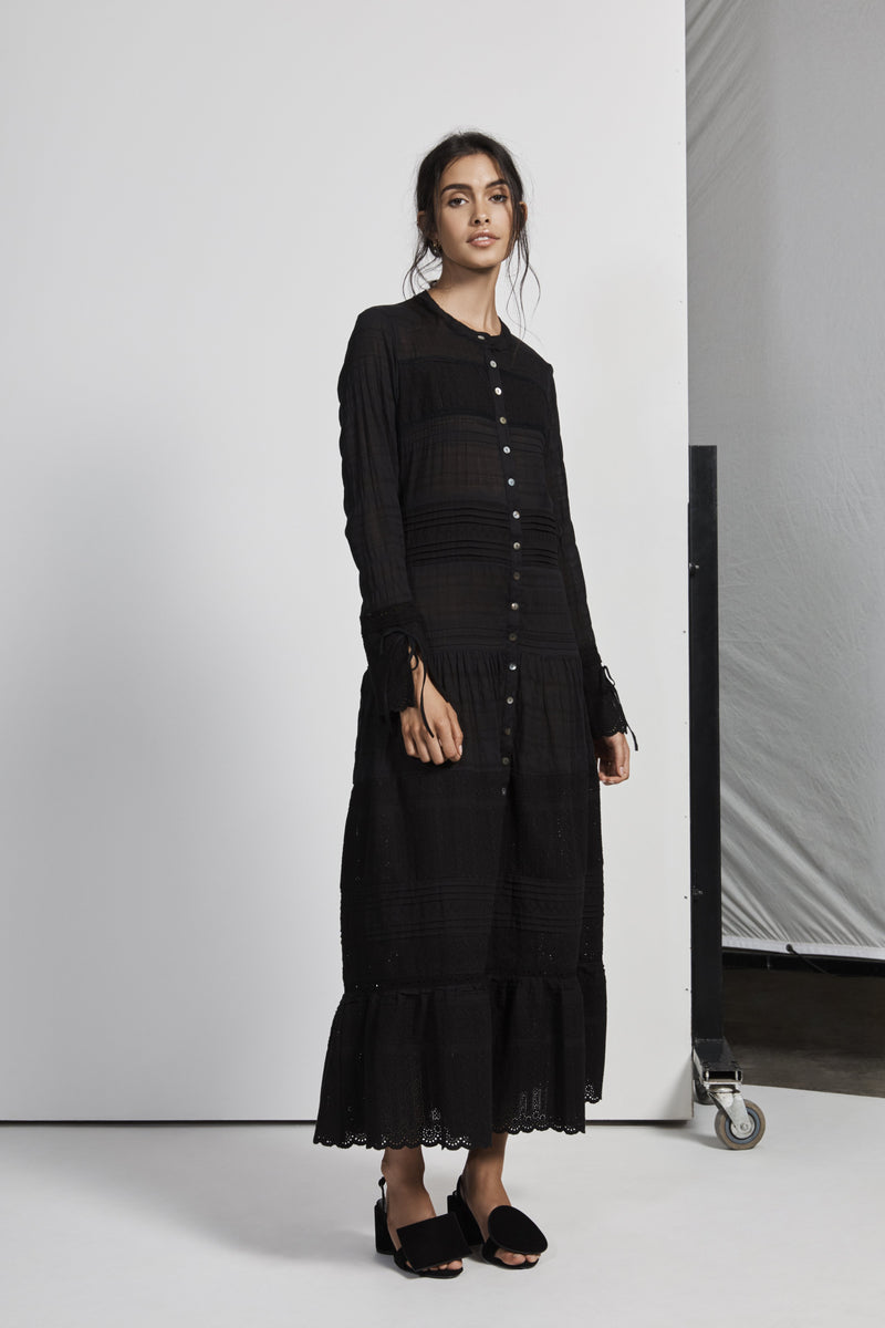 CELIÉ MAXI SHIRT DRESS