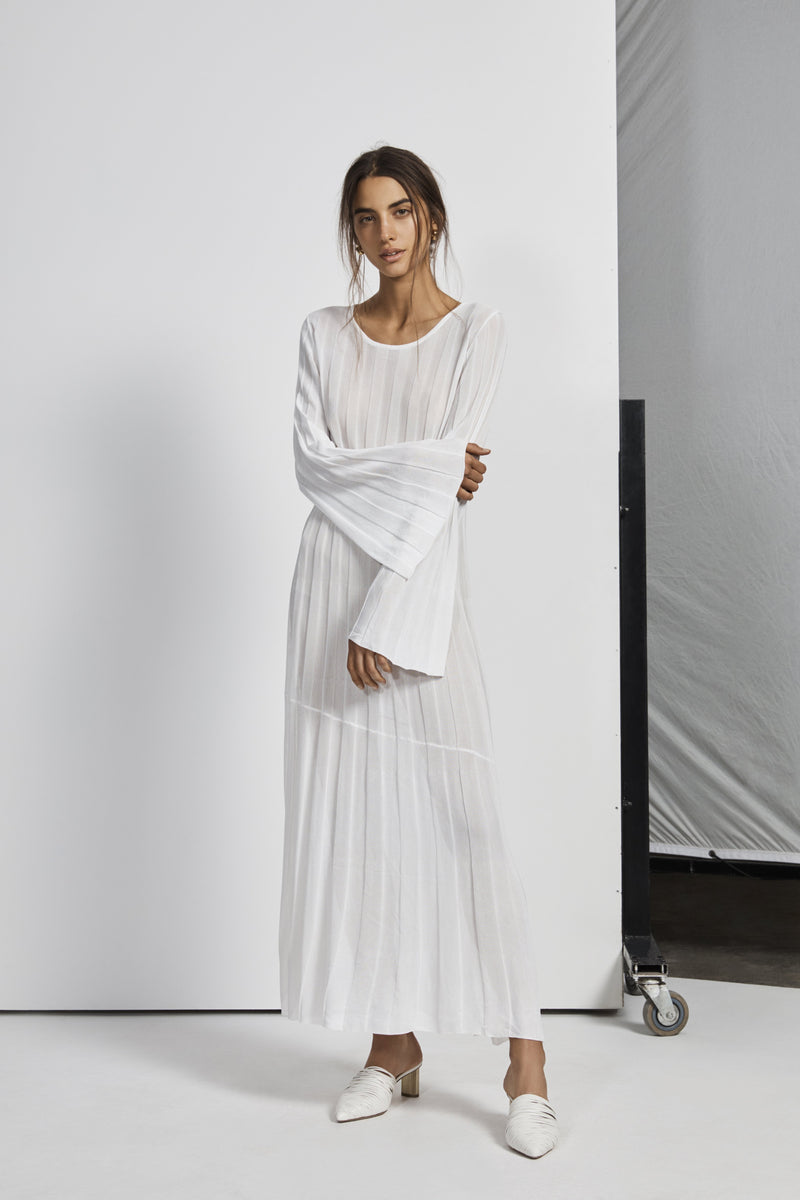AYA PLEATED MIDI DRESS