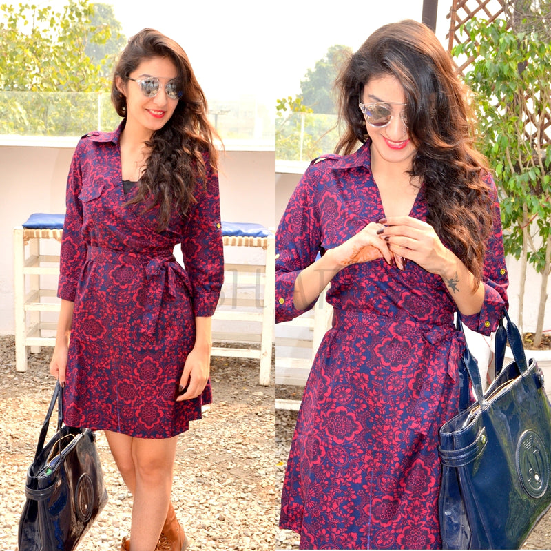 ruby floral dress tunic