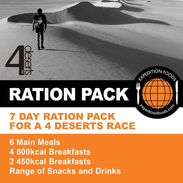 4 Deserts 250km Nutrition Pack