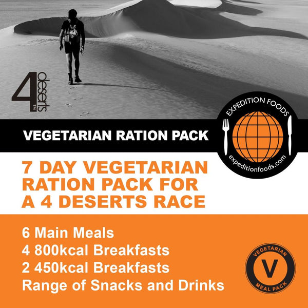 4 Deserts 250km Vegetarian Nutrition Pack