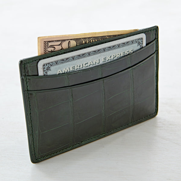 Credit Card Case - Meadow Crocodile