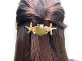 Starfish & Shells Golden Hair Barrette - Shop Making Waves