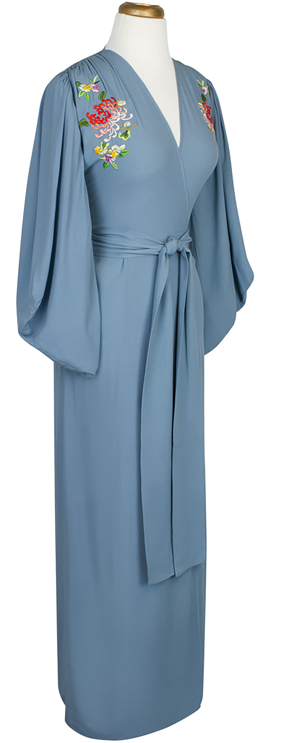 De Havilland Robe - French Blue Emrbroidery