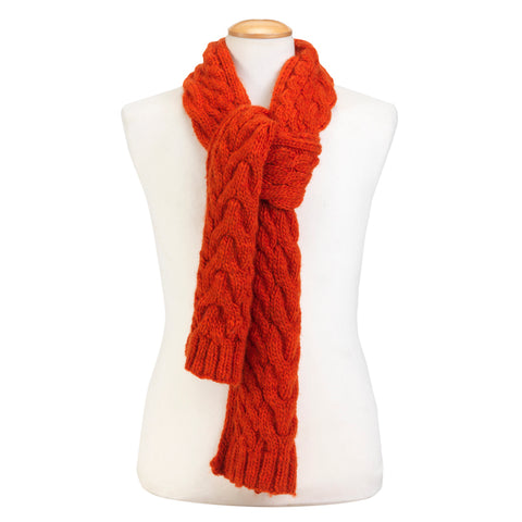 Wilmot Orange Scarf For Humans