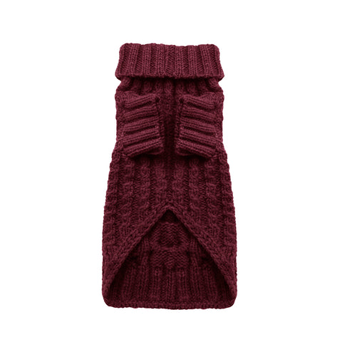 maple red designer dog jumper