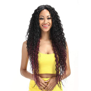 Katia Long Deep Wave Lace Part Wig - SilkyHairShop.com